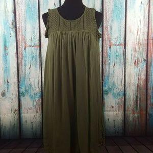 NWT Style & Co Fringe Trim High Low Shift Dress